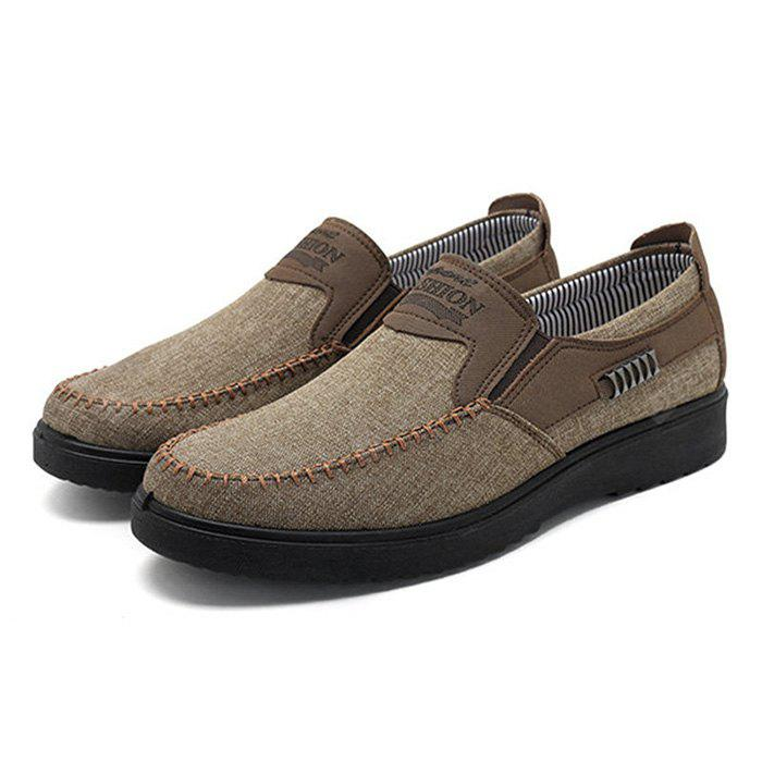 Neat Stitching Non-slip Casual Cloth Shoes for Men