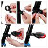 Portable Riding LED Beam Tail Lámpara trasera Laser Outdoor Tool - ROJO CON NEGRO