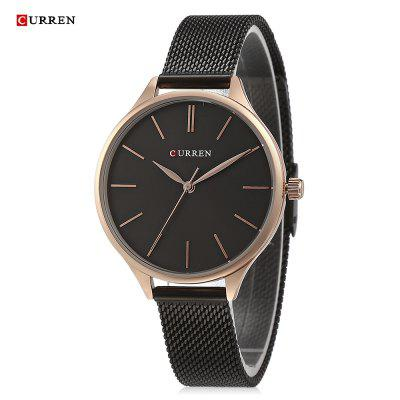 CURREN 9024A Quartz Femme Occasionnel Ultra-mince Montre-Bracelet