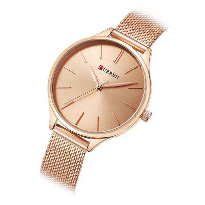 CURREN 9024A Female Quartz Casual Ultra-thin WristwatchWomens Watches<br>CURREN 9024A Female Quartz Casual Ultra-thin Wristwatch<br><br>Band Length: 9.57 inch<br>Band Material Type: Stainless Steel<br>Band Width: 14mm<br>Case material: Stainless Steel<br>Case Shape: Round<br>Case Thickness: 6mm<br>Clasp type: Hook Buckle<br>Dial Diameter: 1.3 inch<br>Dial Display: Analog<br>Dial Window Material Type: Hardlex<br>Gender: Women<br>Movement: Quartz<br>Package Contents: 1 x Watch<br>Package Size(L x W x H): 16.00 x 8.00 x 4.60 cm / 6.3 x 3.15 x 1.81 inches<br>Package weight: 0.1490 kg<br>Product Size(L x W x H): 27.00 x 3.80 x 0.60 cm / 10.63 x 1.5 x 0.24 inches<br>Product weight: 0.0540 kg<br>Style: Fashion &amp; Casual<br>Water Resistance Depth: 30m