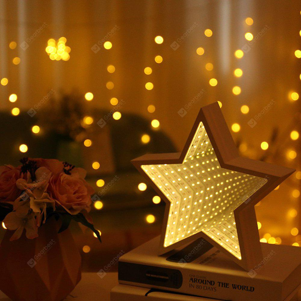 Star Shaped LED Tunnel Lamp Infinity Mirror Light