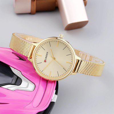 CURREN 9022 Female Quartz Movt Casual Ultra-thin WristwatchWomens Watches<br>CURREN 9022 Female Quartz Movt Casual Ultra-thin Wristwatch<br><br>Band Length: 7.8 inch<br>Band Material Type: Stainless Steel<br>Band Width: 10mm<br>Case material: Stainless Steel<br>Case Shape: Round<br>Case Thickness: 6mm<br>Clasp type: Hook Buckle<br>Dial Diameter: 1.14 inch<br>Dial Display: Analog<br>Dial Window Material Type: Hardlex<br>Gender: Women<br>Movement: Quartz<br>Package Contents: 1 x Watch<br>Package Size(L x W x H): 16.00 x 8.20 x 4.60 cm / 6.3 x 3.23 x 1.81 inches<br>Package weight: 0.1360 kg<br>Product Size(L x W x H): 22.90 x 3.30 x 0.60 cm / 9.02 x 1.3 x 0.24 inches<br>Product weight: 0.0370 kg<br>Style: Fashion &amp; Casual<br>Water Resistance Depth: 30m