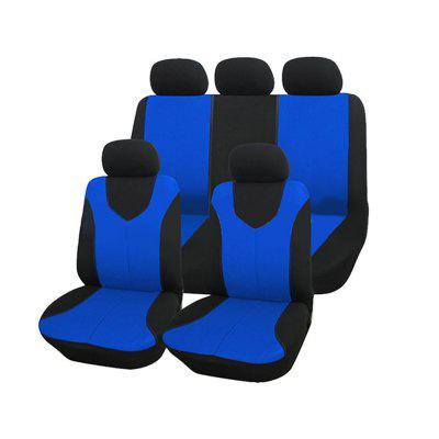 Auto Care Air Mesh Polyester Fabric Car Seat Protector 9pcs