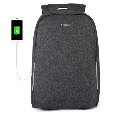 Gearbest Tigernu Anti-theft 15.6inch USB Laptop Backpack with Rain Cover Casual Men Backpack School Bags for Teenagers
