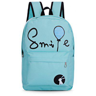 7pcs Cartoon Letter Printing Backpack Women School Bags backpack mochilas school bags mochila feminina pu leather backpacks women travel bag mochilas mujer sac a dos 2018 new back pack