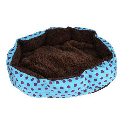 Lovely Polka Dot Soft Washable Pet Dog Cat Bed House Nest Pad teddy bichon guibin pet dog house small zize