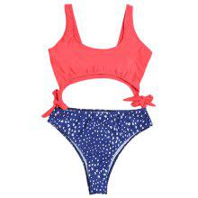 One Piece Swimwear Women Sexy Bowknot High Cut Swimsuit