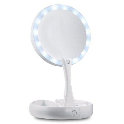 Cosmetic Rechargeable Folding Makeup Mirror with LED Lights