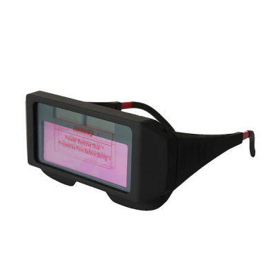 Solar Powered Auto Darkening Welding GlassesSoldering Supplies<br>Solar Powered Auto Darkening Welding Glasses<br><br>Color: Black<br>Function: Eyes Protection<br>Material: ABS Plastic, Plastic<br>Package Contents: 1 x Solar Powered Auto Darkening Welding Glasses, 1 x Elastic Headband<br>Package size (L x W x H): 16.00 x 7.00 x 5.00 cm / 6.3 x 2.76 x 1.97 inches<br>Package weight: 0.1450 kg<br>Product weight: 0.1250 kg<br>Special features: Infrared radiation, Anti-ultraviolet,  Anti-glare<br>Type: Welding/cutting tools