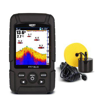 LUCKY FF718LiC - T Portable Underwater Wired Fish FinderFishing Tools and Accessories<br>LUCKY FF718LiC - T Portable Underwater Wired Fish Finder<br><br>Package Contents: 1 x Fish Finder, 1 x Wired Sonar Sensor, 1 x Charger, 1 x Vehicle Charger, 1 x Stainless Bolt, 1 x Wing Nut, 1 x User Manual in English and Russian<br>Package Size(L x W x H): 24.50 x 16.00 x 10.70 cm / 9.65 x 6.3 x 4.21 inches<br>Package weight: 1.0310 kg<br>Product weight: 0.1900 kg