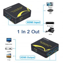 Excelvan 4Kx2K MINI 1x2 one in two out HDMI 1.4b Splitter