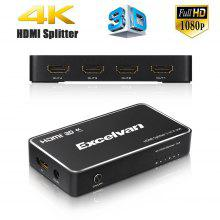 Excelvan 1x4 HDMI splitter 1 in 4 out HDMI 1.4 Support 4Kx2K,1080P@120Hz,3D for PS4,Xbox,DVD,Projector