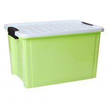 LANGRIA 20 Litre Stackable Buckle-up Plastic Storage Box Container Bin Multi-Functional Tote with and Grooved Lid for Storage Clothes Accessories Toys and Office Supplies, Green