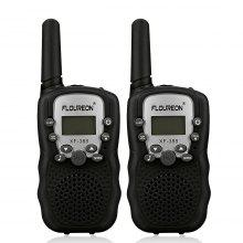 FLOUREON 8 Channel Walkie Talkies UHF400-470MHz two-Way Radio 3 Km Range Black EU/UK
