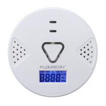 Floureon Carbon Monoxide Alarm CO Detector with Human Voice & LED Warning Digital Display Battery Operated Gas Detection