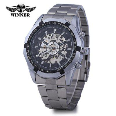 Winner W340 Men Automatic Mechanical WatchMens Watches<br>Winner W340 Men Automatic Mechanical Watch<br><br>Available Color: Black,White<br>Band material: Stainless Steel<br>Brand: Winner<br>Case material: Stainless Steel<br>Display type: Analog<br>Movement type: Automatic mechanical watch<br>Package Contents: 1 x Winner Man Hollow Automatic Mechanical Watch<br>Package size (L x W x H): 29.00 x 5.70 x 2.40 cm / 11.42 x 2.24 x 0.94 inches<br>Package weight: 0.1950 kg<br>Product size (L x W x H): 28.00 x 4.70 x 1.40 cm / 11.02 x 1.85 x 0.55 inches<br>Product weight: 0.1350 kg<br>Shape of the dial: Round<br>The band width: 2 cm / 0.79 inches<br>The dial diameter: 4.5 cm / 1.77 inches<br>The dial thickness: 1.4 cm / 0.55 inches<br>Watch style: Hollow-out<br>Watches categories: Male table