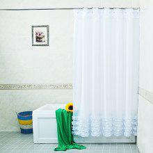 Waterproof Lace Shower Curtain Bathroom Decor