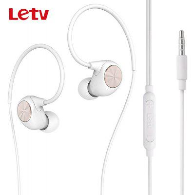 Original Letv LeUIH101 Stereo Earphones Ear Hook with Mic 1.3m
