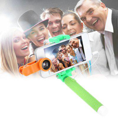 JR-234 Mini 3 Selfie Stick Fish Eye Lens Wide Angle Lens Macro Lens