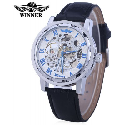Winner W001 Men Hollow Mechanical Watch
