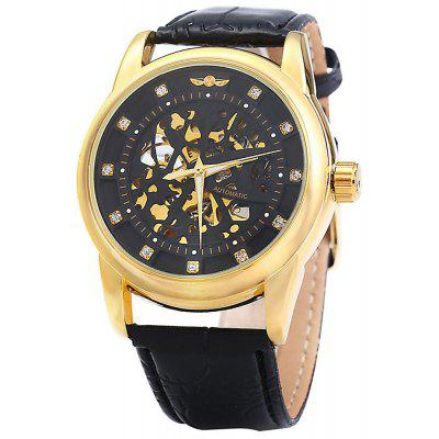 Winner W045 Men Hollow Automatic Mechanical Watch