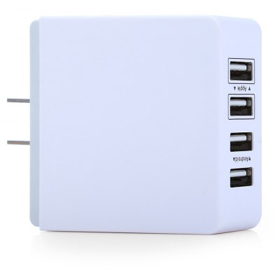 XBX07 Powerful Power Adapter US Plug Wall Charger 4 USB Port