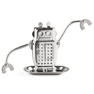 Buy SILVER Stainless Steel Robot Shape Tea Filter for $2.65 in GearBest store