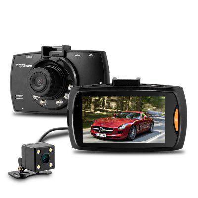 Dome G30B 2.7 inch H.264 1080P Full HD Dual Lens Car DVR 140 Degree Wide Angle Lens Dash Camera Video Recorder with Rear View Camera Motion Detection G-sensor with ChargerCar DVR<br>Dome G30B 2.7 inch H.264 1080P Full HD Dual Lens Car DVR 140 Degree Wide Angle Lens Dash Camera Video Recorder with Rear View Camera Motion Detection G-sensor with Charger<br><br>Anti-shake: No<br>Audio System: Built-in microphone/speacker (AAC)<br>Auto-Power On: Yes<br>Battery Type: Built-in<br>Brand: DOME<br>Camera Pixel: 1.0 / 2.0 / 5.0 / 8.0 MP<br>Charge way: Car charger,USB charge by PC<br>Chipset: Allwinner A10<br>Chipset Name: Allwinner<br>Class Rating Requirements: Class 10 or Above<br>Decode Format: H.264<br>Delay Shutdown: Yes<br>Exposure Compensation: +1,+2,+3,-1,-2,-3,0<br>Function: HDMI output, Night Vision, Delay Shutdown, Motion Detection, G-sensor, Auto-Power On<br>G-sensor: Yes<br>GPS: No<br>HDMI Output: Yes<br>Image Format: JPEG<br>Image resolution: 1M (1280?720), 2M (1600?900)<br>Image Sensor: CMOS<br>Interface Type: Mini USB, HDMI, TF Card Slot, AV-in<br>Language: English,Japanese,Korean,Russian,Simplified Chinese,Traditional Chinese<br>Loop-cycle Recording Time: 1min,2min,5min,OFF<br>Max External Card Supported: TF 32G (not included)<br>Model: G30B<br>Motion Detection: Yes<br>Night vision: Yes<br>Operating Temp.: -18 - 65 Deg.C<br>Package Contents: 1 x G30B Car DVR Recorder, 1 x Car Charger, 1 x Suction Cup Mount, 1 x Cable for External Camera, 1 x USB Cable, 1 x User Manual<br>Package size (L x W x H): 24.00 x 15.00 x 9.00 cm / 9.45 x 5.91 x 3.54 inches<br>Package weight: 0.510 kg<br>Parking Monitoring: No<br>Product weight: 0.060 kg<br>Screen size: 2.7inch<br>Screen type: LCD<br>Type: Dual Lens Dashboard Camera, Dual Lens Dashboard Camera, Full HD Dashcam, HD Car DVR Recorder<br>Video format: MP4<br>Video Output: HDMI<br>Video Resolution: 1080P (1920 x 1080),720 x 480<br>White Balance Mode: Fluorescent, Auto, Cloudy, Daylight, Tungsten<br>Wide Angle: 140 degree wide angle