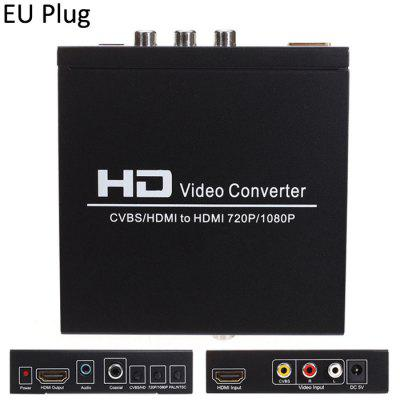 1080P HDMI to HDMI AV CVBS Video Converter Adapter