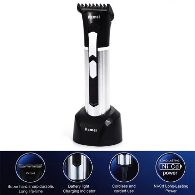 KEMEI KM-3037 Electric Rechargeable Hair Trimmer