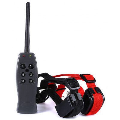 E - 328B2 1 for 2 Rechargeable Dog Training Collars with Electric Shock Individual Vibration
