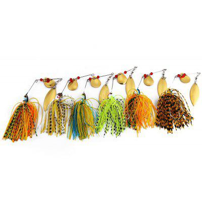 6 PCS Fishing Lure Spinner Buzz Bait