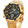 Kaladia 9028G Dual Movt Watch Analog Digital Wristwatch - GOLDEN