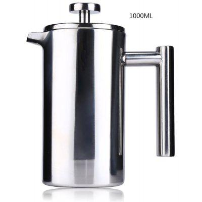 1000ML Stainless Steel Insulated Coffee Tea Maker with Filter Double Wall