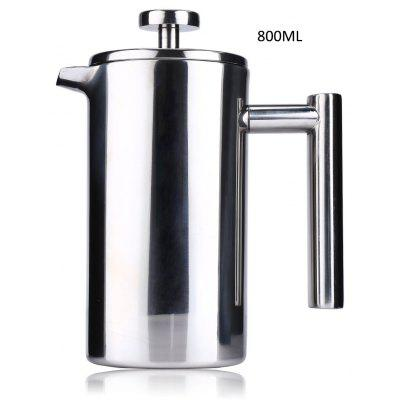 800ML Stainless Steel Insulated Coffee Tea Maker with Filter Double Wall