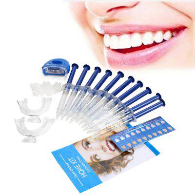 Practical Dental Whitening SetTooth Care<br>Practical Dental Whitening Set<br><br>Application: Teeth<br>Category: Dental Whitening Kit<br>Material: Plastic, Silicone<br>Package Contents: 10 x 3ml Gel Syringes, 2 x Thermal Moulding Mouth Tray, 1 x Laser Power, 2 x 3V CR2025 Button Battery, 1 x English User Manual, 1 x RHS Color Chart<br>Package size (L x W x H): 20.00 x 14.80 x 5.50 cm / 7.87 x 5.83 x 2.17 inches<br>Package weight: 0.1450 kg<br>Power Supply: Battery<br>Product size (L x W x H): 14.60 x 2.30 x 0.80 cm / 5.75 x 0.91 x 0.31 inches<br>Product weight: 0.1150 kg<br>Season: All seasons