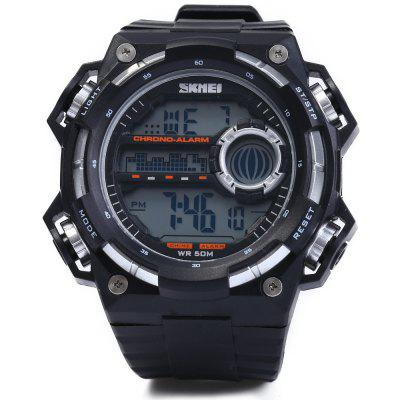 Skmei 1115 Outdoor Sports LED Watch Analog WristwatchSports Watches<br>Skmei 1115 Outdoor Sports LED Watch Analog Wristwatch<br><br>Available Color: Red,Blue,Silver,Black<br>Band material: Rubber<br>Brand: Skmei<br>Case material: PC<br>Clasp type: Pin buckle<br>Display type: Digital<br>Movement type: Digital watch<br>Package Contents: 1 x Skmei 1115 Watch<br>Package size (L x W x H): 27.500 x 5.500 x 2.500 cm / 10.827 x 2.165 x 0.984 inches<br>Package weight: 0.084 kg<br>People: Male table<br>Product size (L x W x H): 26.500 x 4.500 x 1.500 cm / 10.433 x 1.772 x 0.591 inches<br>Product weight: 0.054 kg<br>Shape of the dial: Round<br>Special features: Date, Alarm Clock, Day, Stopwatch, EL Back-light<br>The band width: 2.0 cm / 0.79 inches<br>The dial diameter: 4.5 cm / 1.77 inches<br>The dial thickness: 1.5 cm / 0.59 inches<br>Watch style: Outdoor Sports, LED<br>Water resistance : 50 meters<br>Wearable length: 16 - 23 cm / 6.3 - 9.06 inches