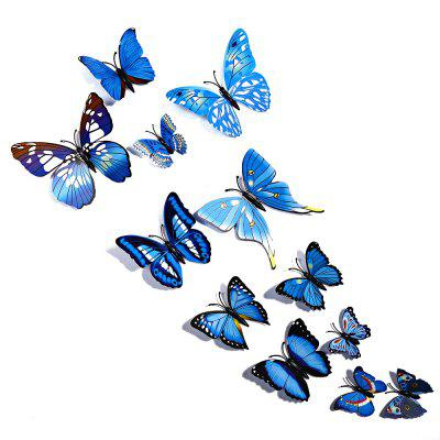 12 pcs 3D Butterfly Wall Stickers Art Decor DecalsWall Stickers<br>12 pcs 3D Butterfly Wall Stickers Art Decor Decals<br><br>Category: 3D Butterfly Wall Stickers<br>Material: Plastic<br>Package size (L x W x H): 20.000 x 15.000 x 15.000 cm / 7.874 x 5.906 x 5.906 inches<br>Package weight: 0.030 kg<br>Product size (L x W x H): 10.500 x 12.000 x 11.000 cm / 4.134 x 4.724 x 4.331 inches<br>Product weight: 0.022 kg<br>Style: Others