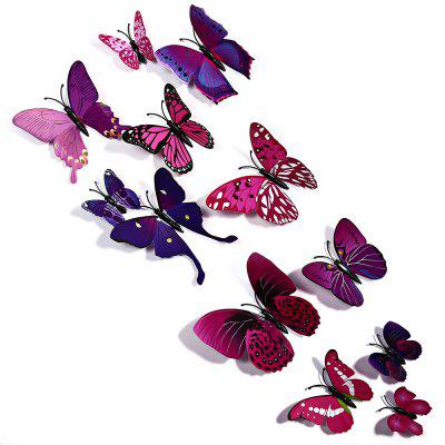 3D Butterfly Wall Stickers Art DecorationsWall Stickers<br>3D Butterfly Wall Stickers Art Decorations<br><br>Category: 3D Butterfly Wall Stickers<br>Material: Plastic<br>Package size (L x W x H): 20.000 x 15.000 x 15.000 cm / 7.874 x 5.906 x 5.906 inches<br>Package weight: 0.030 kg<br>Product size (L x W x H): 10.500 x 12.000 x 11.000 cm / 4.134 x 4.724 x 4.331 inches<br>Product weight: 0.022 kg<br>Style: Others