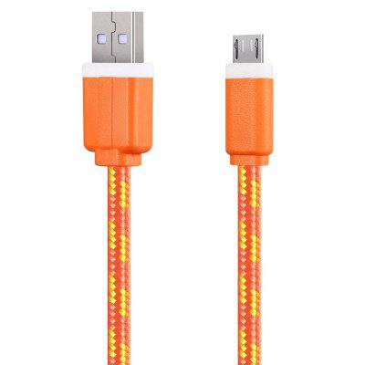 2M Micro USB Flat Braided Charger CableChargers &amp; Cables<br>2M Micro USB Flat Braided Charger Cable<br><br>Cable Length (cm): 2m<br>Color: Black,White,Red,Blue,Green,Purple,Orange,Yellow<br>Interface Type: Micro USB, USB 2.0<br>Package Contents: 1 x 2M Braided Fabric Flat Colorful Micro USB Synchronization Data Charger Cable Cord<br>Package size (L x W x H): 11.00 x 4.50 x 3.00 cm / 4.33 x 1.77 x 1.18 inches<br>Package weight: 0.0650 kg<br>Product weight: 0.0400 kg<br>Type: Cable