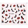 Colorful Stylish Art Sticker Tips Decoration Manicure Nail Paste - #5