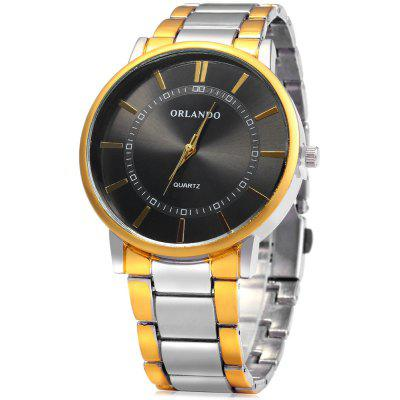 ORLANDO Z390 Male Quartz Watch with Golden Case