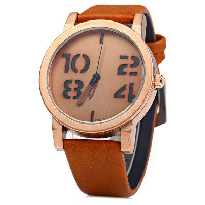 Feifan 62082G Big Digital Men Quartz Watch Leather Band