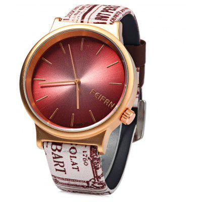 Feifan 62085G Women Quartz Watch with Unique Leather Band