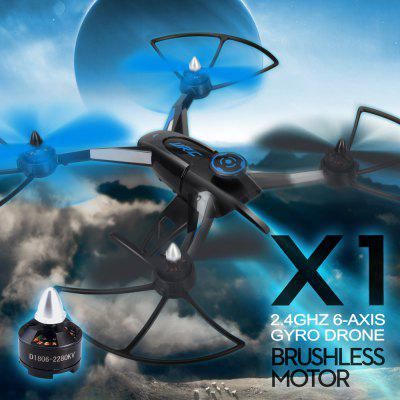 JJRC X1 2.4G 4 Channel 6 Axis Gyro Remote Control Quadcopter with Brushless Motor RTF