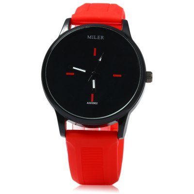MILER A503902 Candy Colors Male Quartz WatchMens Watches<br>MILER A503902 Candy Colors Male Quartz Watch<br><br>Available Color: Red<br>Band material: Rubber<br>Band size: 25.0 x 2.0 cm / 9.84 x 0.79 inches<br>Brand: Miler<br>Case material: Stainless Steel<br>Clasp type: Pin buckle<br>Dial size: 4.0 x 4.0 x 1.0 cm / 1.57 x 1.57 x 0.39 inches<br>Display type: Analog<br>Movement type: Quartz watch<br>Package Contents: 1 x MILER A503902 Watch<br>Package size (L x W x H): 26.00 x 5.20 x 2.00 cm / 10.24 x 2.05 x 0.79 inches<br>Package weight: 0.090 kg<br>Product size (L x W x H): 25.00 x 4.20 x 1.00 cm / 9.84 x 1.65 x 0.39 inches<br>Product weight: 0.060 kg<br>Shape of the dial: Round<br>Watch color: White, Pink and white, Green, Black, Rose, Pink, Red, Lake blue, Purple, Green and white, Red and white<br>Watch style: Casual<br>Watches categories: Male table<br>Wearable length: 17.5 - 23.5 cm / 6.89 - 9.25 inches