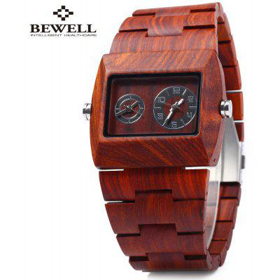 BEWELL ZS - W021C Wooden Men Quartz Watch