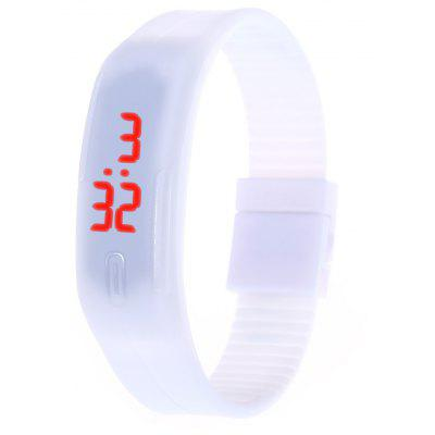 LED Watch Dati Rosso Digitale Rettangolo Dial Rubber Banda