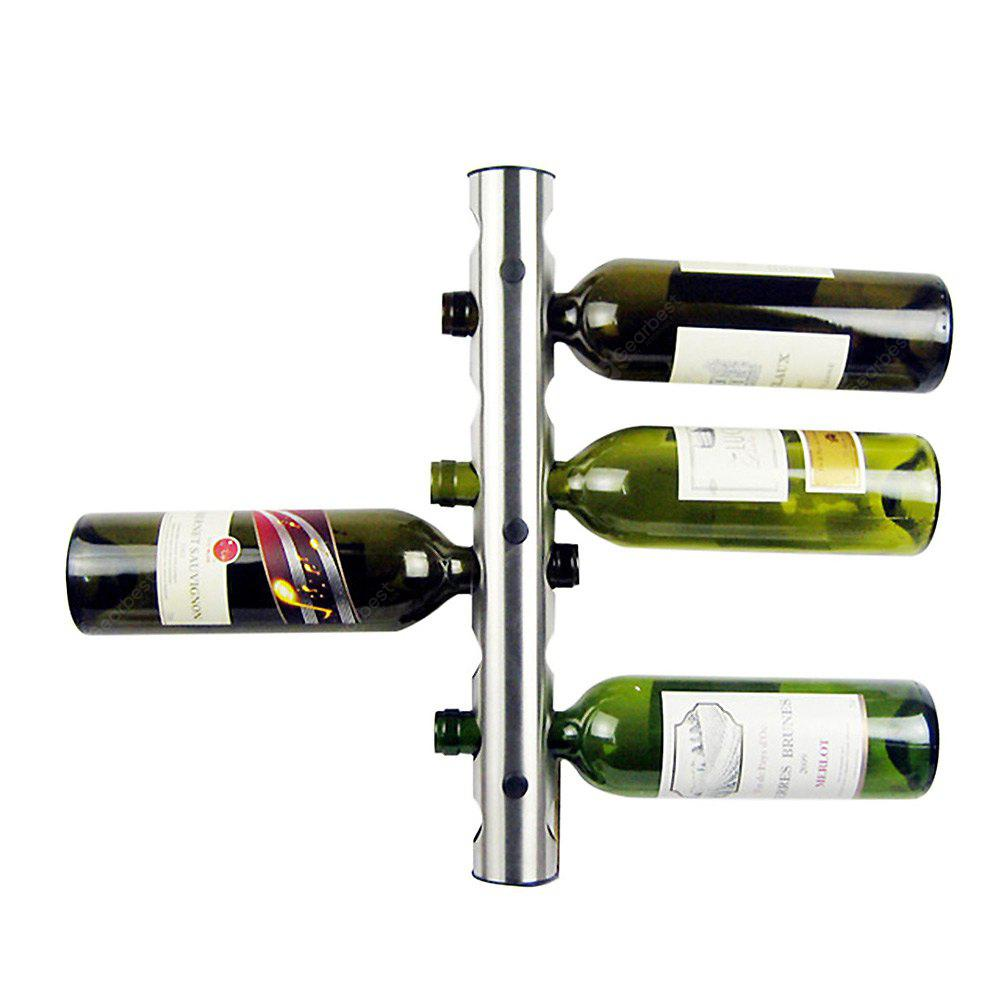 Stainless Steel 8-hole Wall Mounted Wine Rack Holder