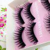 Makeup Exaggerated Stage Artificial Eyelashes - BLACK